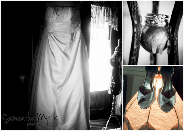 wedding dress shoes and rings