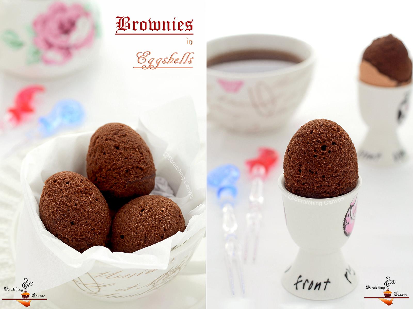Recipe Brownies Baked In Egg Shells Easter Breakfast