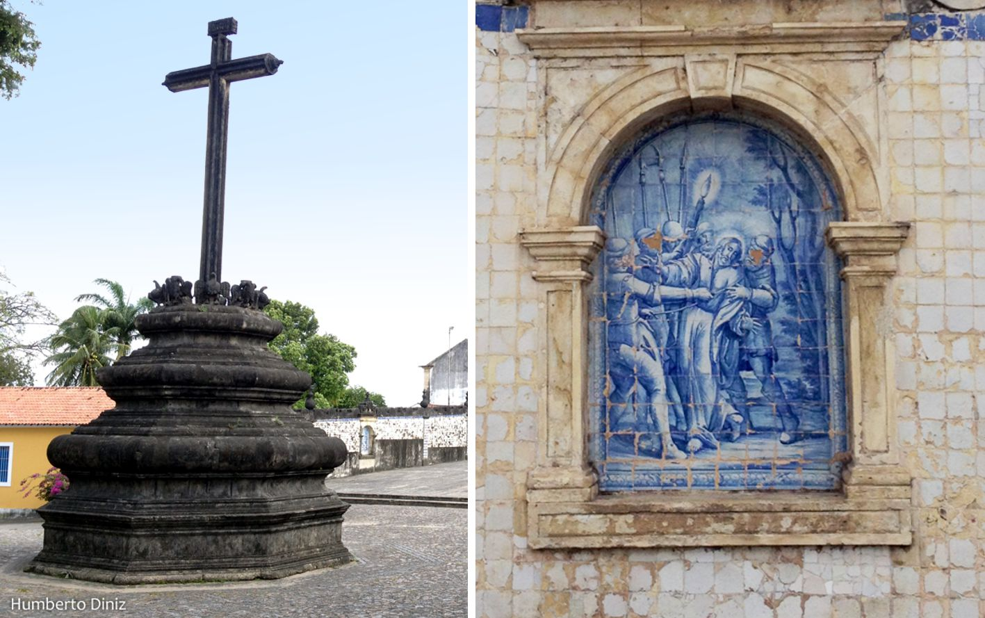 Foto 9 – Cruzeiro e Painel de Azulejo no Adro da Igreja de São Francisco