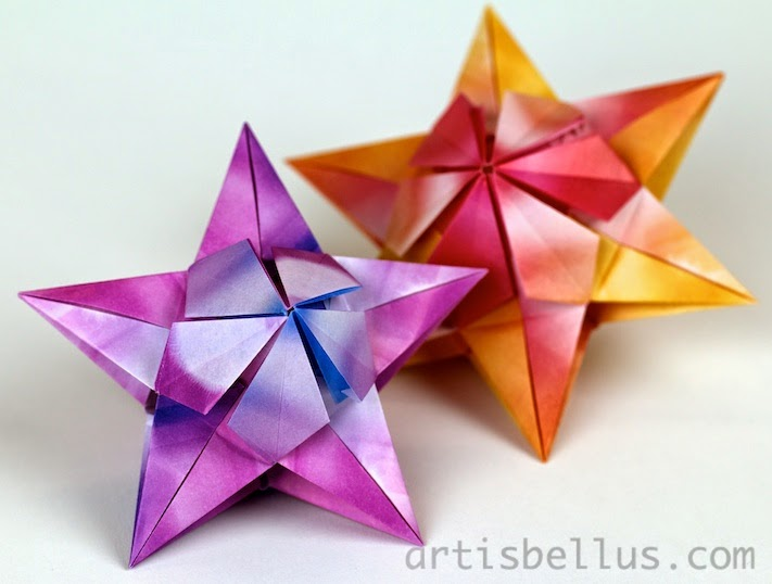 Origami Decorations: Bitterroot Stars