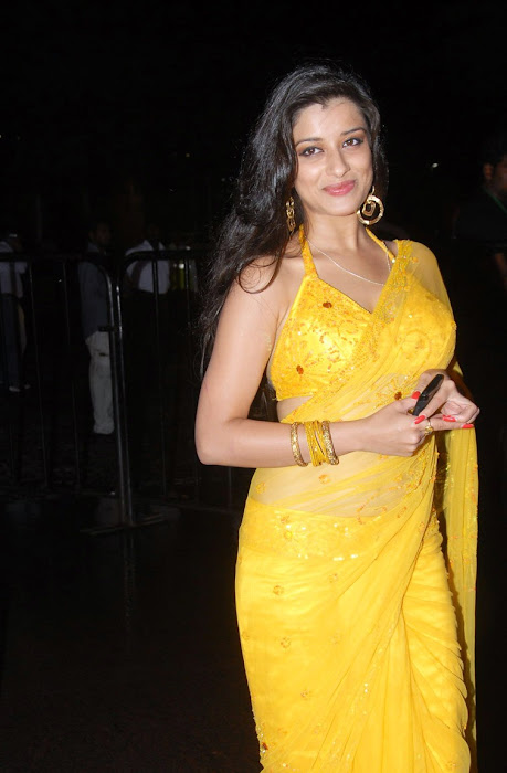 madhurima saree from santhosam awards, madhurima spicy cute stills