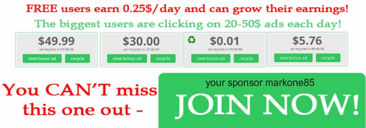 3 - Earn 10$ online earning website by just clicking adds of value $1