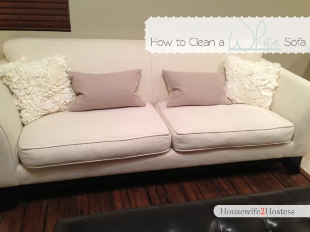 Housewife 2 Hostess How To Clean A White Sofa