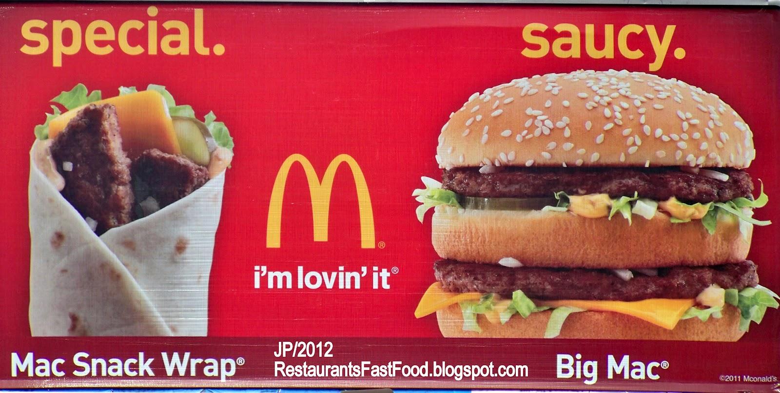 Restaurant fast food menu mcdonald 39 s dq bk hamburger pizza - Fast good cuisine big mac ...