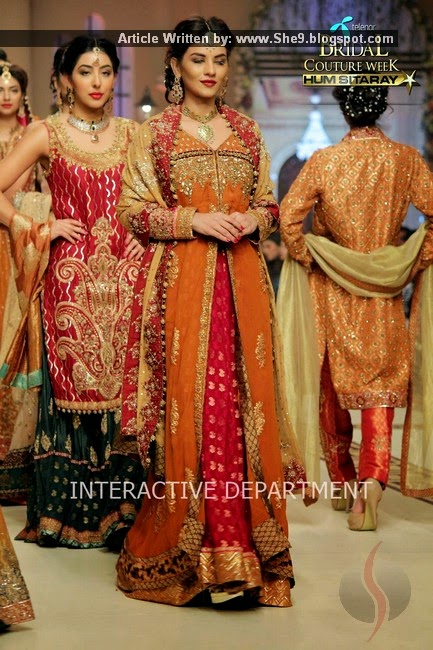 Uzma Babar Bridal Couture at TBCW2014