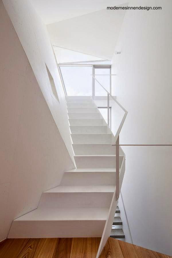 Arquitectura de casas 15 escaleras contempor neas blancas - Escaleras voladas de madera ...