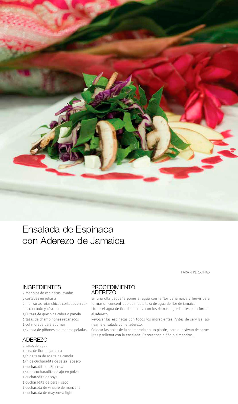 Ensalada de Espinaca