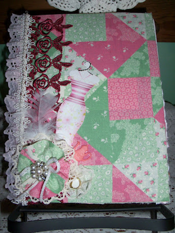 Front of Shabby Chic Altered Journal