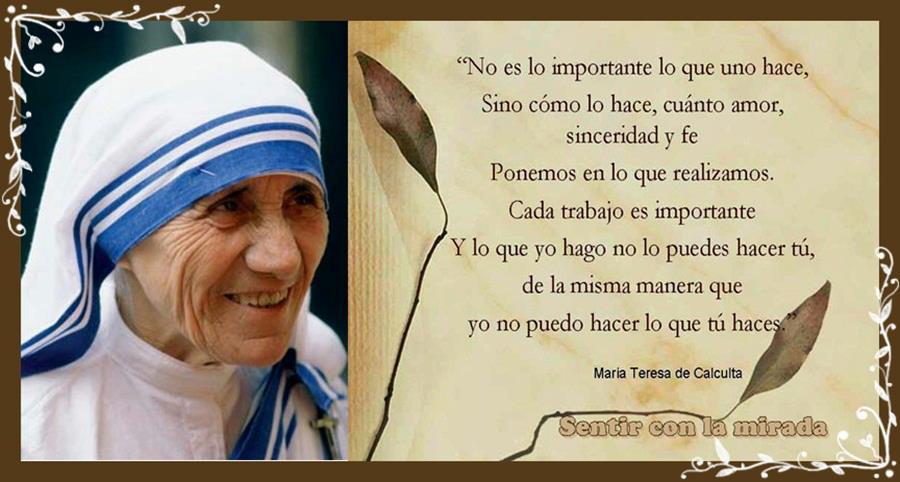 Tag Frases De Madre Teresa De Calcutá Sobre Familia