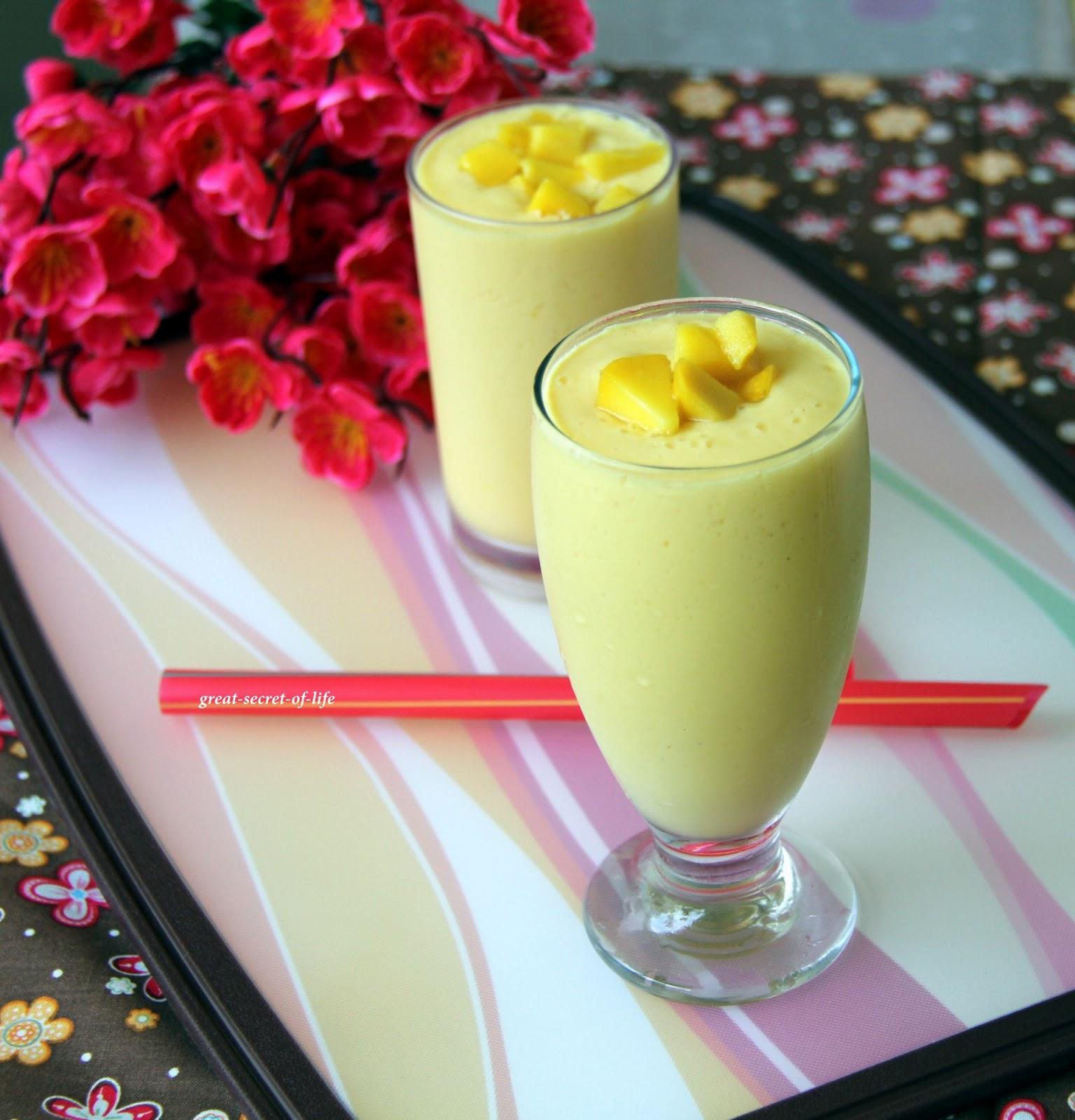 Mango Lassi - Mango Yogurt drink| Great-secret-of-life