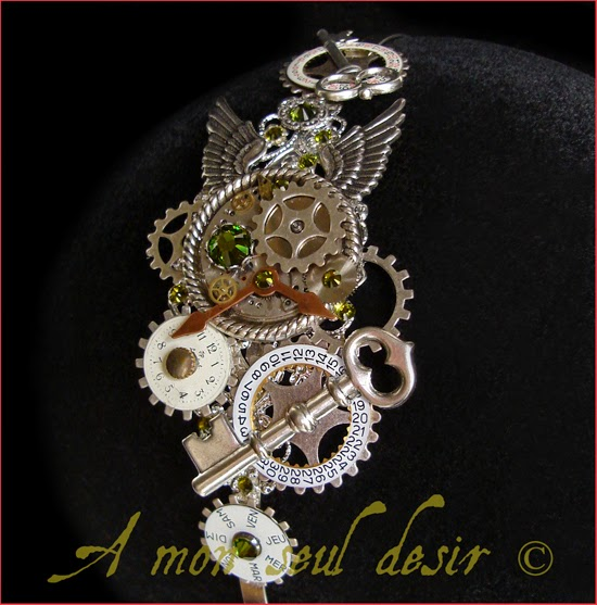 Bijoux Steampunk Serre Tête Mécanique mécanisme Mouvement Montre rouages Watch Movement Clockwork Watchwork Jewelery