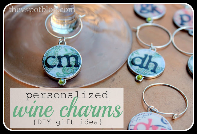 how to make personalized wine charms