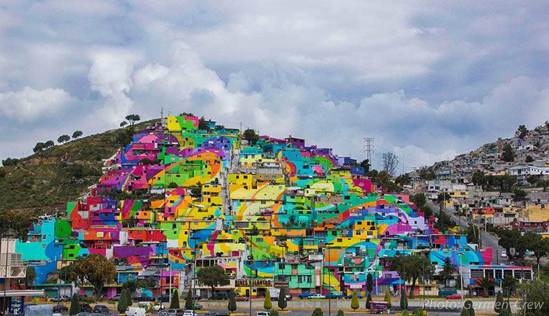 Gobierno mexicano permite pintar a los artistas urbanos 200 casas para unir a la comunidad