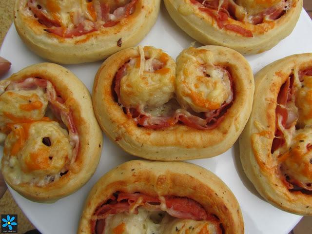 Plameritas de pizza Ana Sevilla