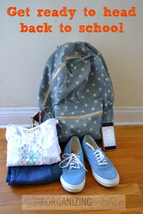 Get ready to head back to school :: OrganizingMadeFun.com