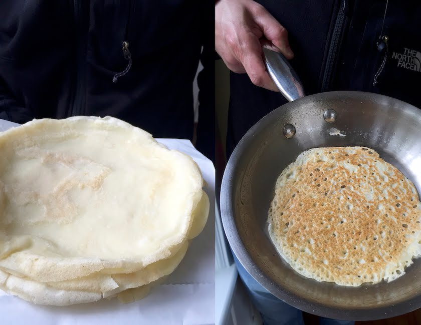 Indian Rice Polis (Pancakes)