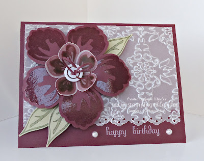 Build a Blossom embossed birthday card