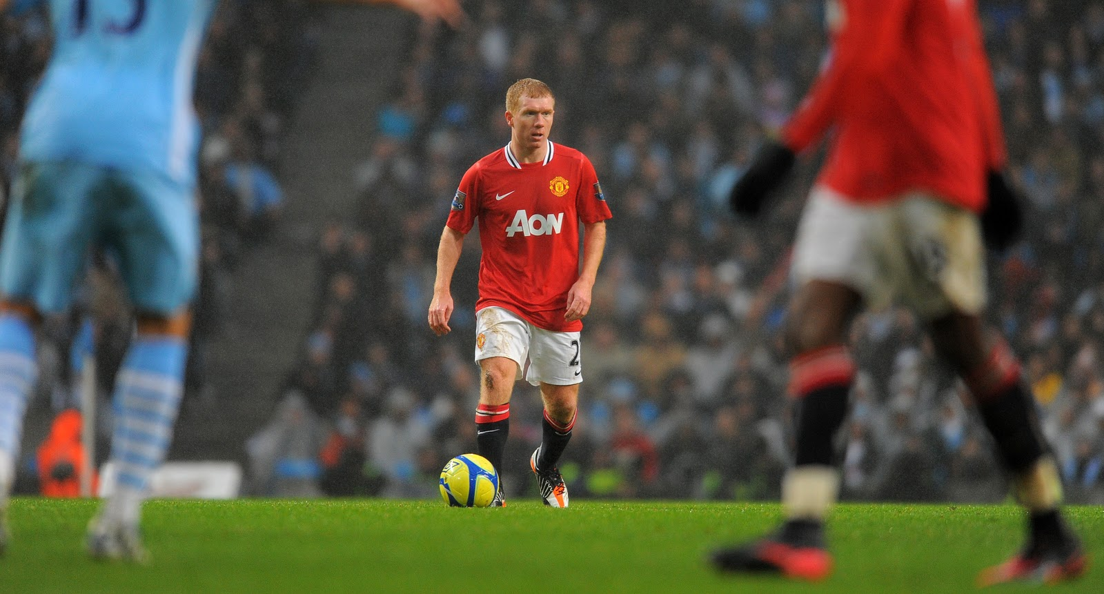 Image result for paul scholes return man city 2012