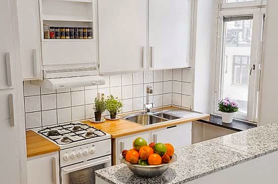 Ideas para decorar cocinas peque as colores en casa - Decorar cocina pequena ...