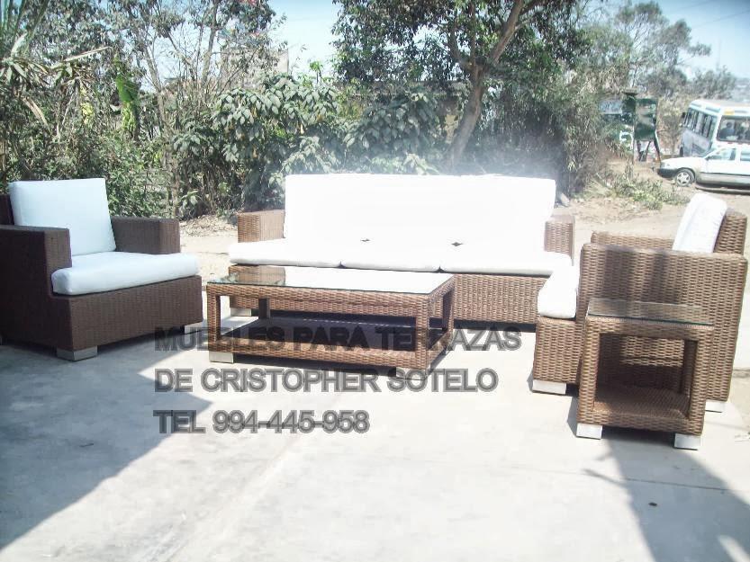 Muebles de rattan y mimbre terrazas peru for Muebles terrazas ratan