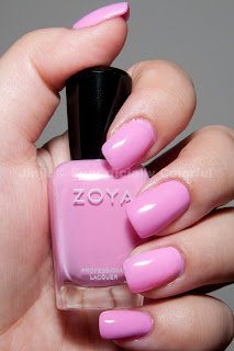 Zoya - Sweet. Taken indoors under artificial lighting.
