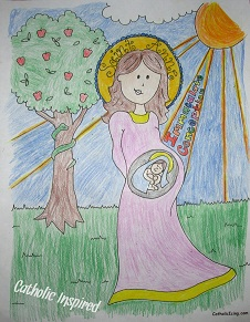 The Immaculate Conception Coloring Page  Catholic Inspired