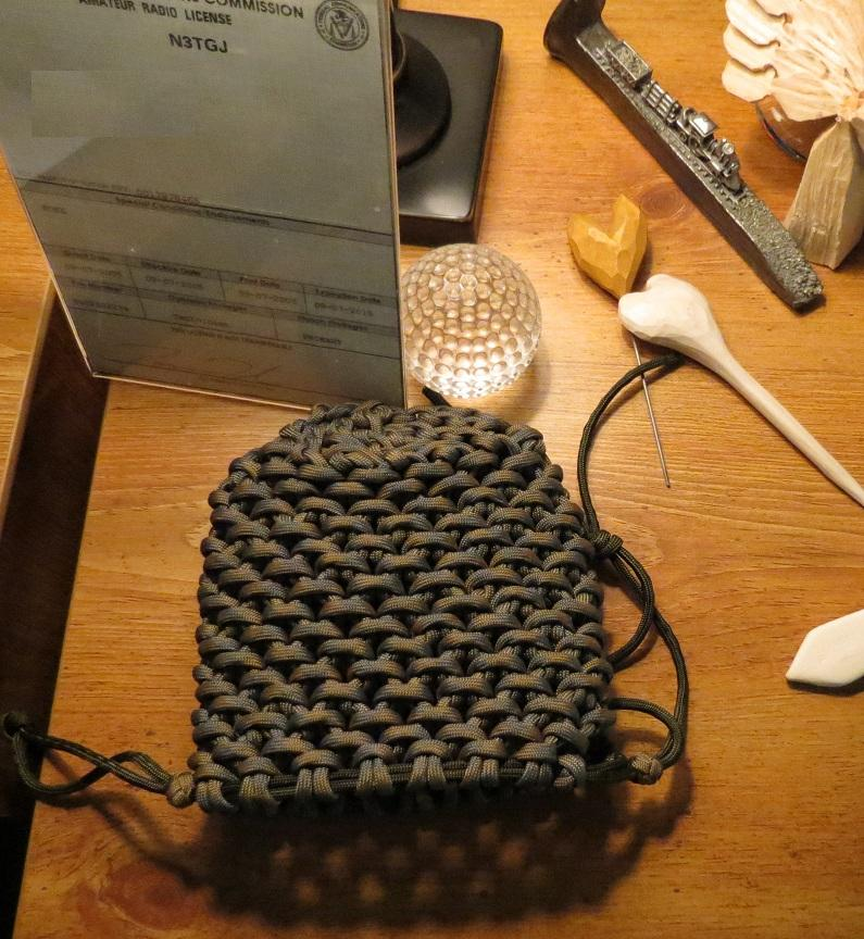 Woodlake bushcraft paracord pouch for How to make a paracord bag