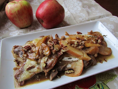Apple and Brie Smothered Pork Chops