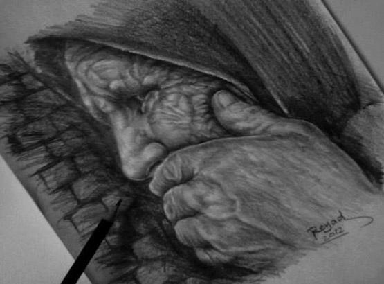 رسومات الوجوه والاشخاص(البورتريه) بالرصاص والفحم