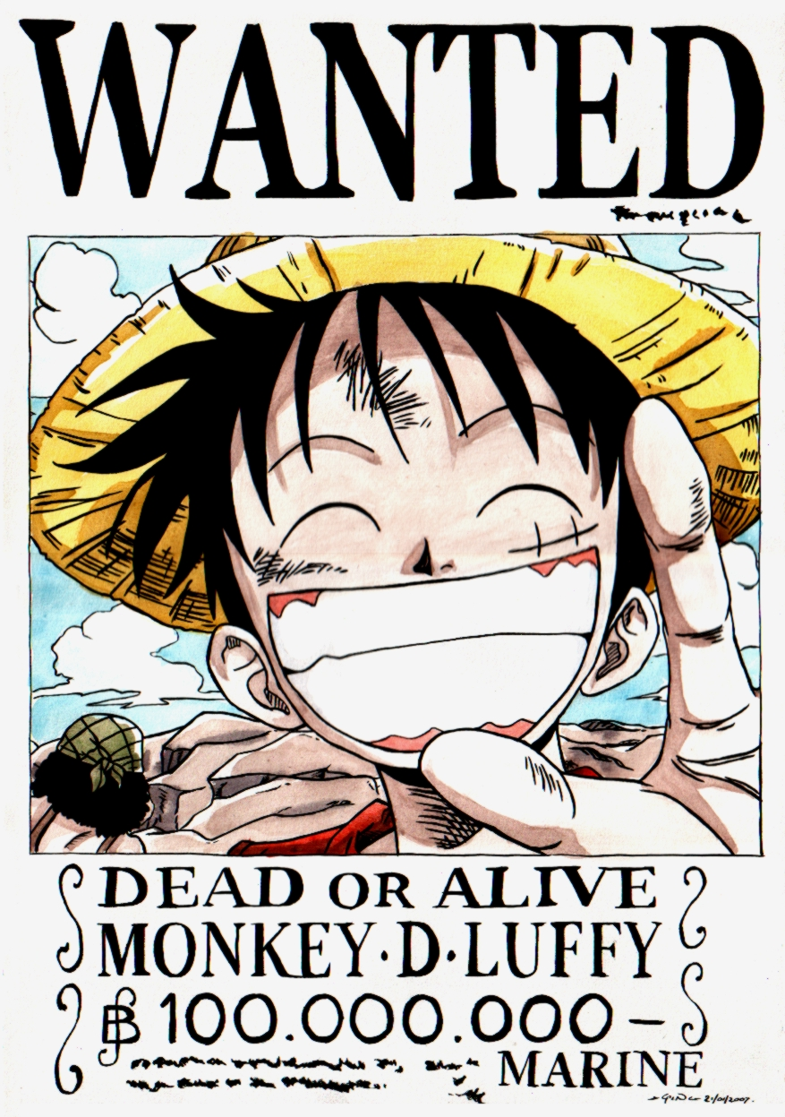 Recompensas de one piece abril 2011 - One piece luffy wanted ...