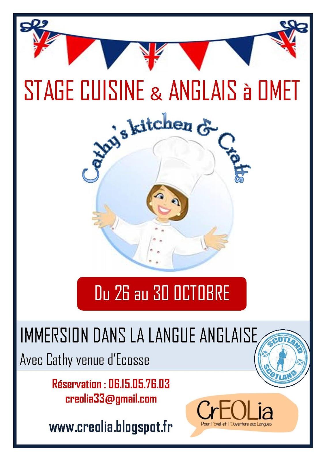 Stage de cuisine et anglais creolia for Stage de cuisine gratuit