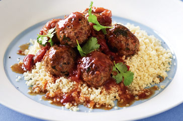Moroccan meatballs with couscous recipe lebanese recipes the lebanese recipes kitchen the home of delicious lebanese recipes and middle eastern food recipes invites you to try moroccan meatballs with couscous forumfinder Images