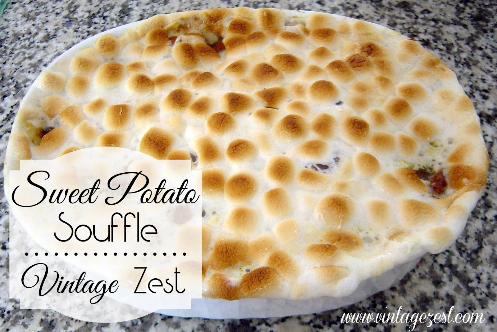 Sweet Potato Souffle for Thanksgiving from Vintage Zest