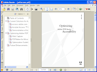 interface Adobe Reader