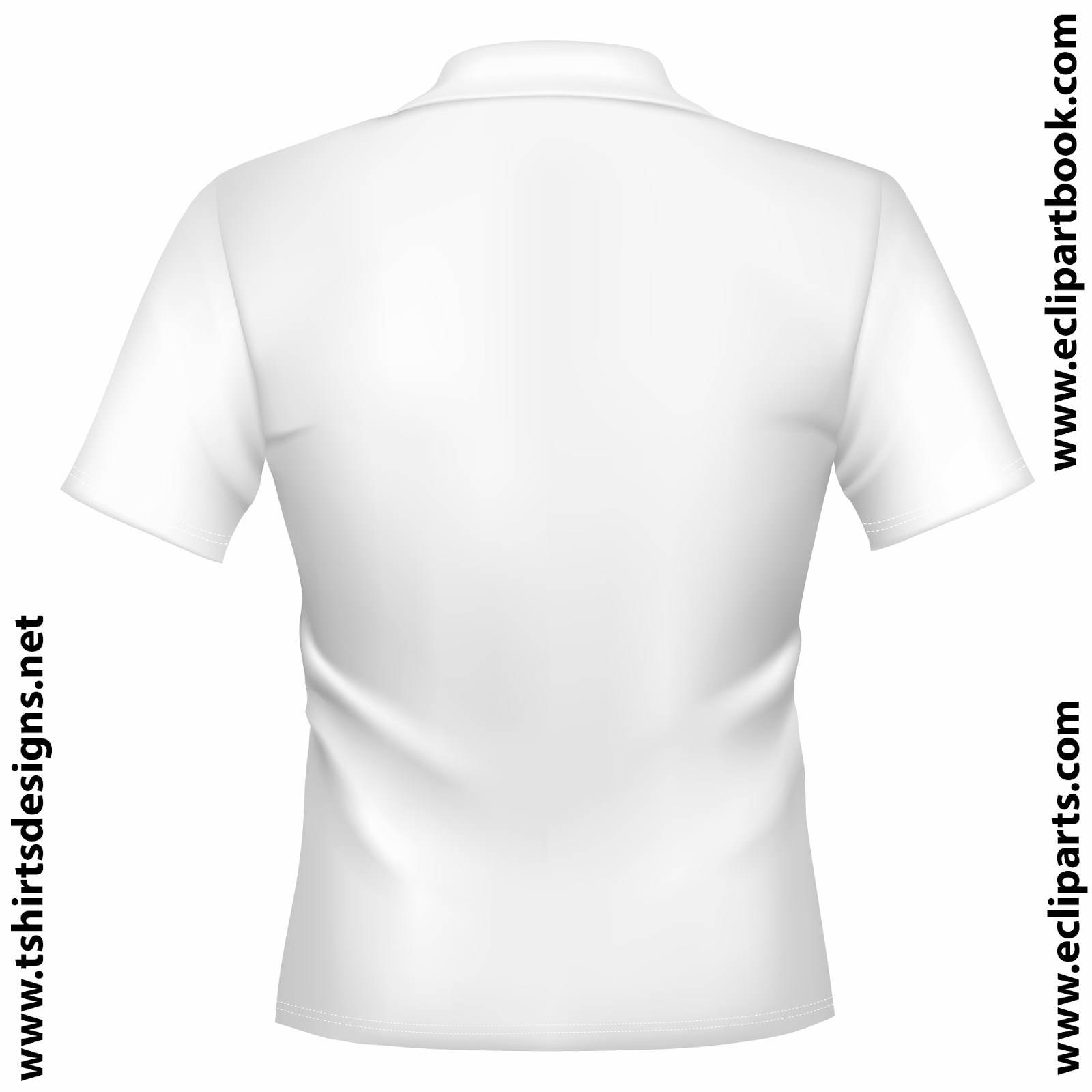 Plain White Polo Shirt Front And Back