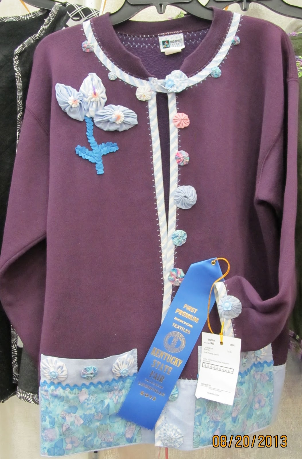 Sewing sandy state fair entry winners sweatshirt for Blue ribbon koi