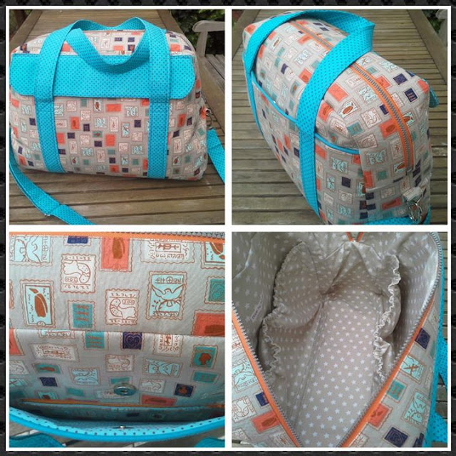The Nappy bag Pattern by Mrs H - Sewn by Margareth Tai