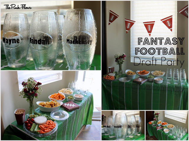 Fantasy Football Draft Party ideas from www.thepinkflour.com