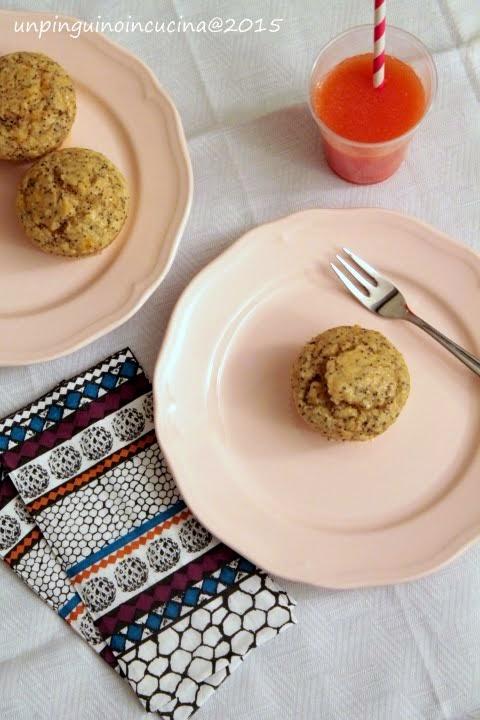 almond orange poppyseed muffin (senza lattosio)