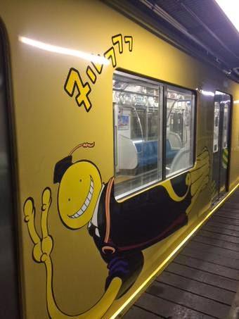 Ada Kereta Assassination Classroom di Tokyo