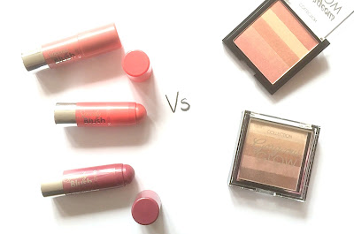 cream vs powder blusher