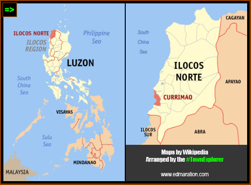 Location Map of #Currimao, Ilocos Norte, Philippines