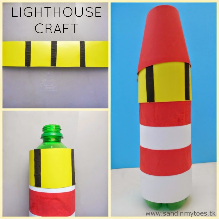Recycled Lighthouse craft - Easy for kids to make!