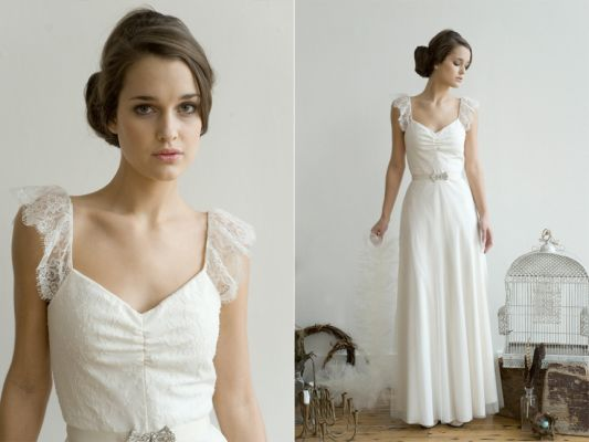 Food of life your dream wedding gown for Simple elegant wedding dress designers