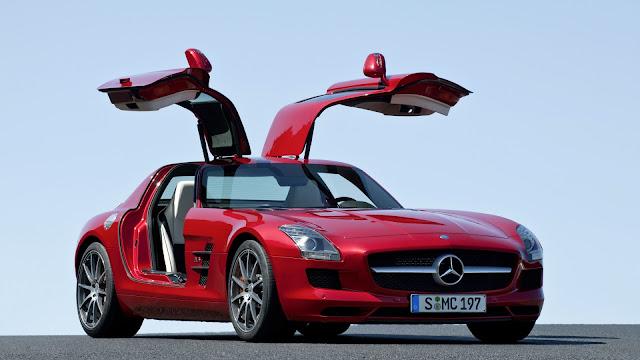 fondo de escritorio Mercedes-Benz SLS AMG rojo