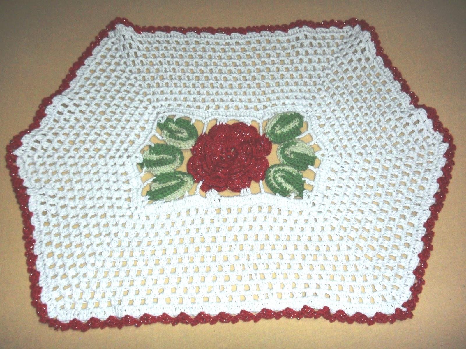 Jogos De Banheiro Vermelho E Branco : Bete barbante croche jogo banheiro rosas vermelhas