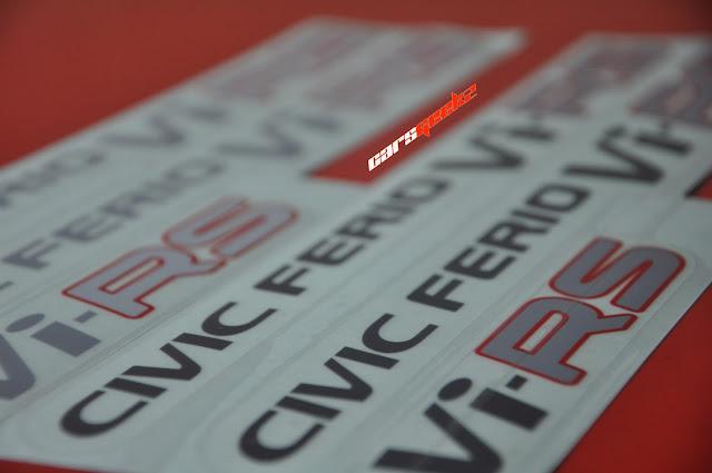 ViRS - civic ferio decals stickers side door