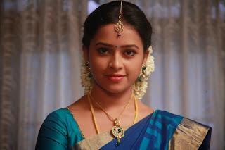 Sri Divya looks super cute in Saree for movie Vellaikaara Durai