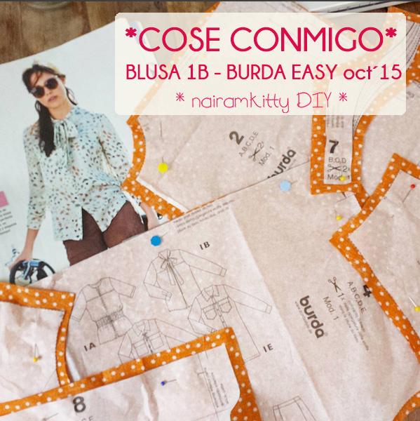 COSE CONMIGO BLUSA BURDA EASY