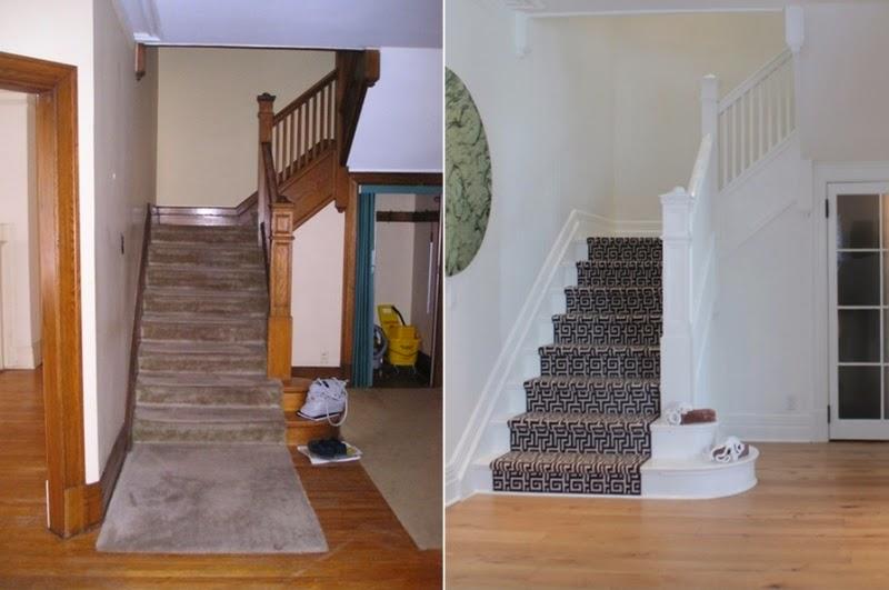 schody, metamorfoza